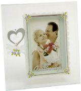 Silver Wedding Anniversary Painted Glass Photo Frame